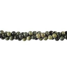 Serpentijn (Russisch) kralen rond 6 mm (snoer van 40 cm)