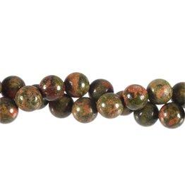 Unakiet kralen rond 10 mm (streng van 40 cm)
