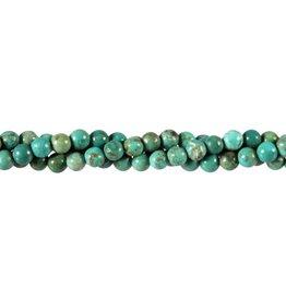 Turkoois kralen rond 6 mm (streng van 40 cm)