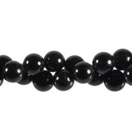 Toermalijn (zwart) kralen rond 12 mm (snoer van 40 cm)