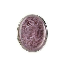 Zilveren ring lepidoliet maat 18 3/4 | ovaal 2,6 x 2 cm