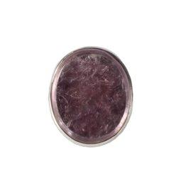 Zilveren ring lepidoliet maat 17 3/4 | ovaal 2,5 x 2 cm