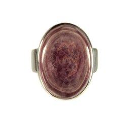 Zilveren ring lepidoliet maat 17 3/4 | ovaal 1,9 x 1,3 cm
