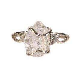 Zilveren ring herkimer diamant maat 18