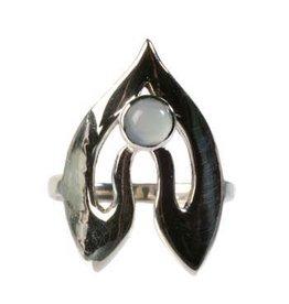 Zilveren ring chalcedoon maat 18 1/2 | namaste