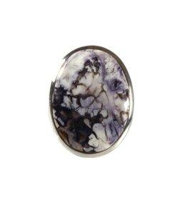 Zilveren ring tiffany stone maat 18 1/4 | ovaal 2,8 x 2 cm