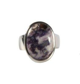 Zilveren ring bertrandiet maat 17 3/4 | ovaal 1,8 x 1,4 cm