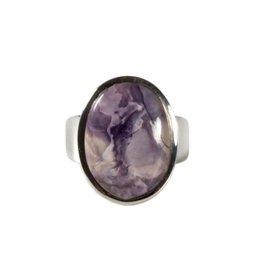 Zilveren ring tiffany stone maat 16 3/4 | ovaal 1,8 x 1,3 cm