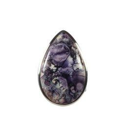 Zilveren ring tiffany stone maat 18 3/4 | druppel 3 x 1,9 cm