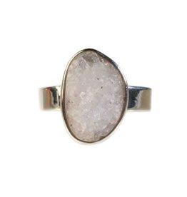 Zilveren ring anandaliet maat 18 3/4 | 17 x 11 mm