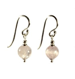 Zilveren oorbellen kunziet rond 8 mm