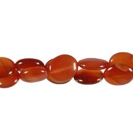 Carneool kralen ovaal 16 x 14 mm (snoer van 40 cm)