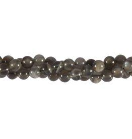 Maansteen (grijs) kralen rond 6 mm (snoer van 40 cm)