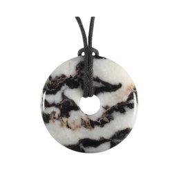 Zebra marmer hanger donut 3 cm