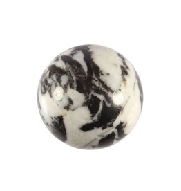 Zebra marmer edelsteen bol 40 mm