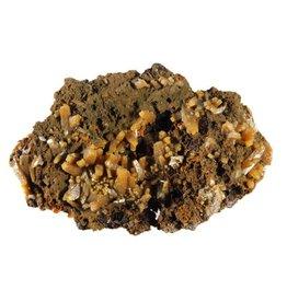 Wulfeniet kristallen op mimetesiet 6 x 3,7 x 1,5 cm / 40 gram
