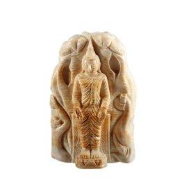 Versteend hout boeddha 7,5 x 4,3 x 11,2 cm / 322 gram