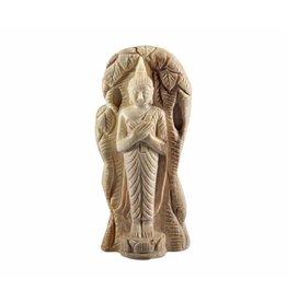 Versteend hout boeddha 4,5 x 3 x 1,2 cm / 116 gram