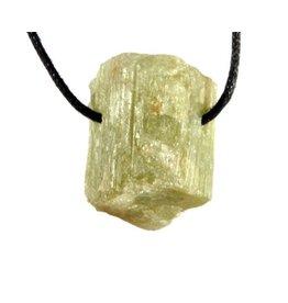 Toermalijn (groen) hanger kristal doorboord