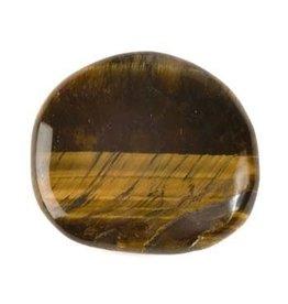 Tijgeroog steen plat gepolijst