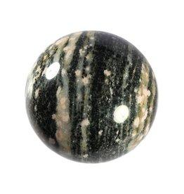 Thuliet in gebande gneis edelsteen bol 70 mm