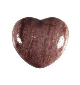 Thuliet edelsteen hart 4 cm
