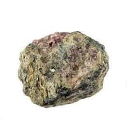 Spinel in zwarte mica ruw 25 - 50 gram