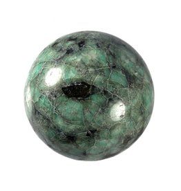 Smaragd edelsteen bol 78 mm