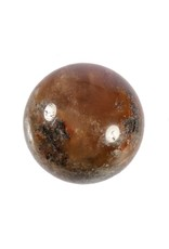 Sjamaankwarts met desiriet en pyriet bol 55 mm