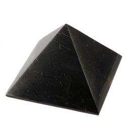 Shungiet edelsteen piramide 7 cm