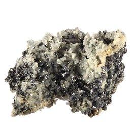 Sfaleriet met chalcopyriet en bergkristal cluster 11,6 x 8,7 x 7,6 cm / 557 gram