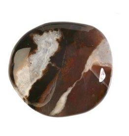Sardonyx steen plat gepolijst