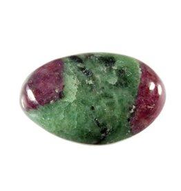 Robijn in zoisiet steen getrommeld 5 - 10 gram