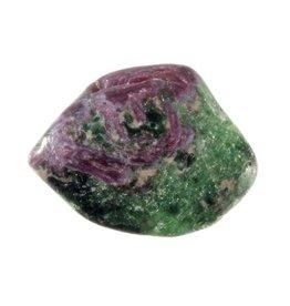 Robijn in zoisiet steen getrommeld 2 - 5 gram