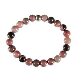 Rhodoniet (roze met zwart) armband 20 cm | 8 mm kralen