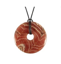 Rhodochrosiet hanger donut A-kwaliteit 4 cm