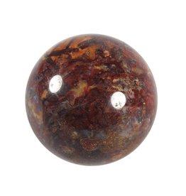 Pietersiet (rood) edelsteen bol 55 mm
