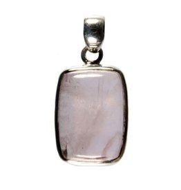 Zilveren hanger kunziet rechthoek 2 x 1,4 cm