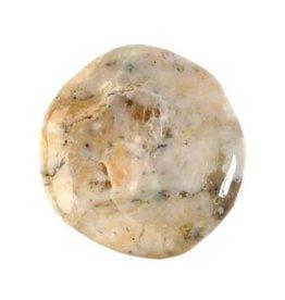 Opaal (dendriet) steen plat gepolijst 10 - 25 gram