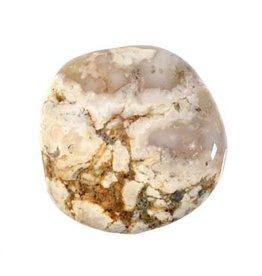 Opaal (dendriet) steen B-kwaliteit plat gepolijst