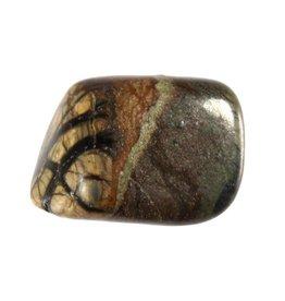 Olivijn steen getrommeld 5 - 10 gram