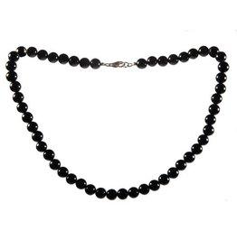 Obsidiaan (zwart) ketting 8 mm kralen