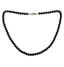 Obsidiaan (zwart) ketting 6 mm kralen