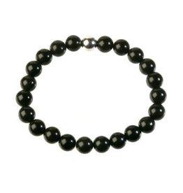 Obsidiaan (zwart) armband 18 cm | 8 mm kralen