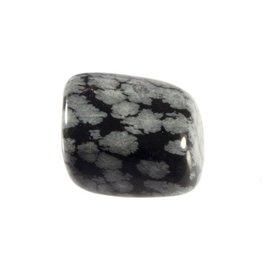 Obsidiaan (sneeuwvlok) steen getrommeld 5 - 10 gram