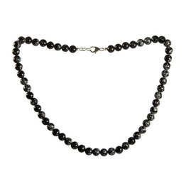 Obsidiaan (sneeuwvlok) ketting 8 mm kralen