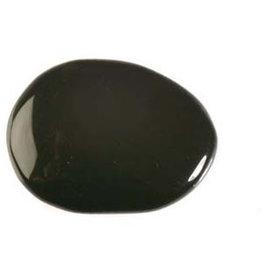 Obsidiaan (regenboog) steen plat gepolijst