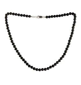 Obsidiaan (regenboog) ketting 6 mm kralen