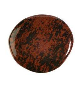 Obsidiaan (mahonie) steen plat gepolijst