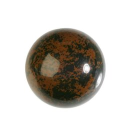 Obsidiaan (mahonie) edelsteen bol 40 mm